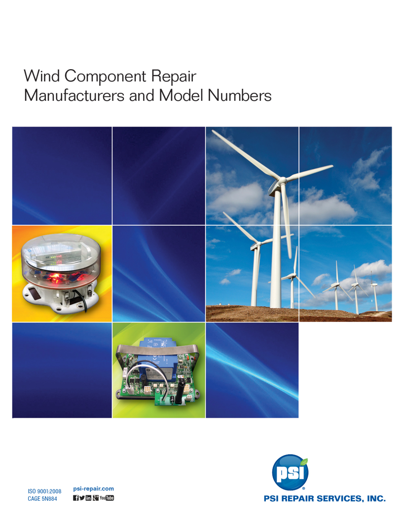 Wind Component Repair Manufacturers & Model Numbers