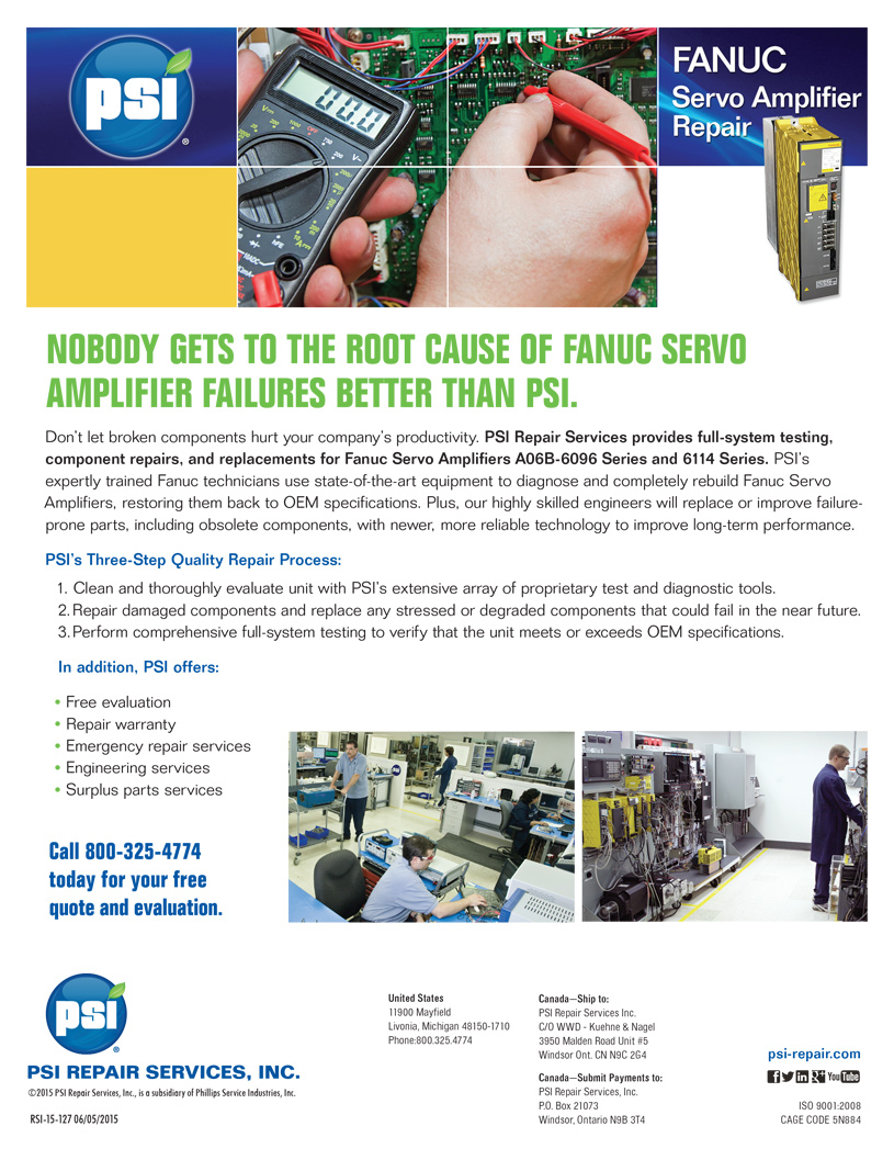 Fanuc Servo Amplifiers Repairs