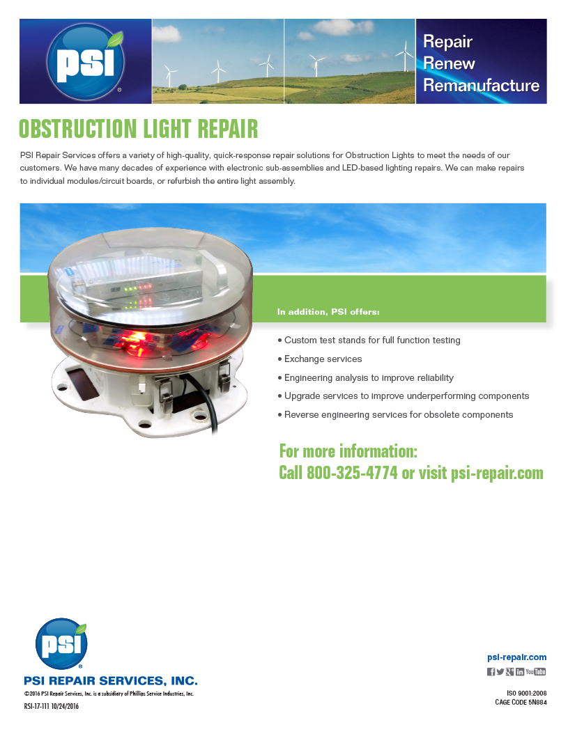 Obstruction Light Repair Services
